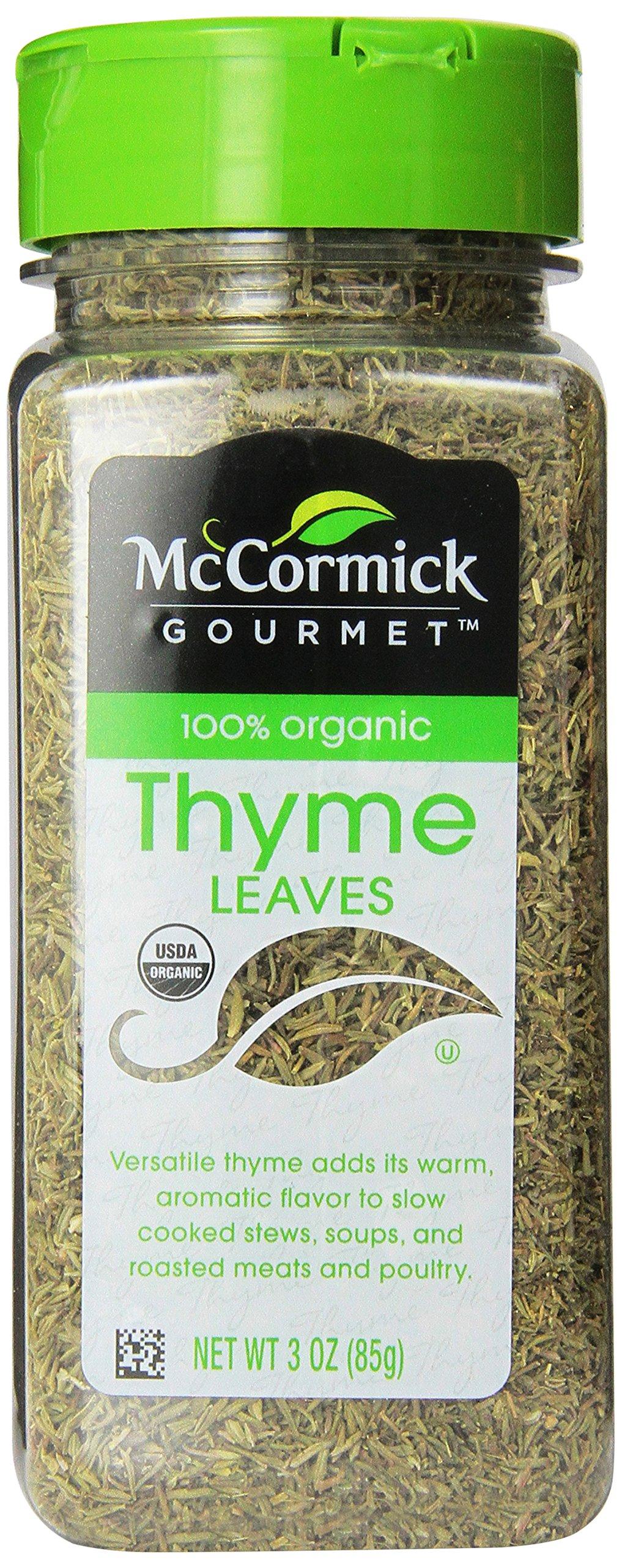 McCormick Organic Thyme Leaves, 3 Ounce