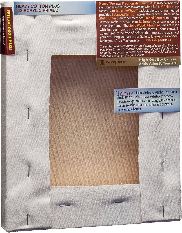 4X Masterpiece Artist Canvas 43571 Monet Pro 1-1//2 Deep Cotton 14.6oz Tahoe Heavy Weight 36 x 72