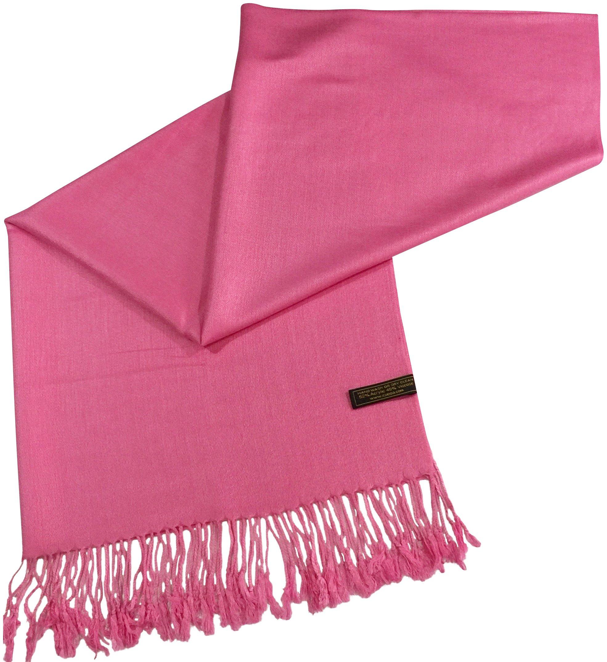 CJ Apparel Pink Solid Color Design Shawl Scarf Wrap Stole Pashmina SecondsNEW