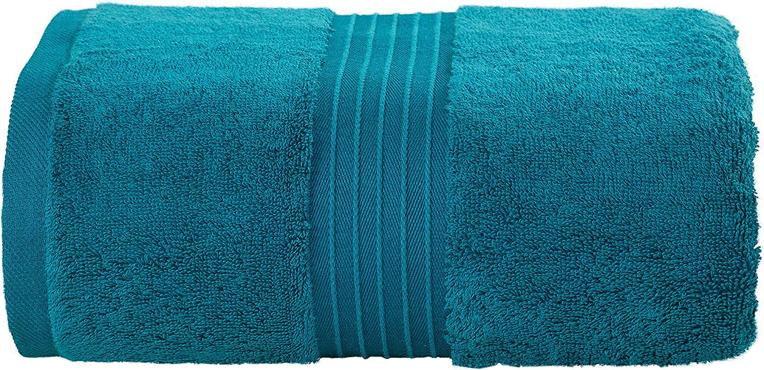 Bliss Casa Large Bath Sheets 35 x 70 Inch (1 Pack) 600 GSM Combed Cotton Highly Absorbent Quick Dry Hotel Bath Sheet Set (Navy): Home & Kitchen