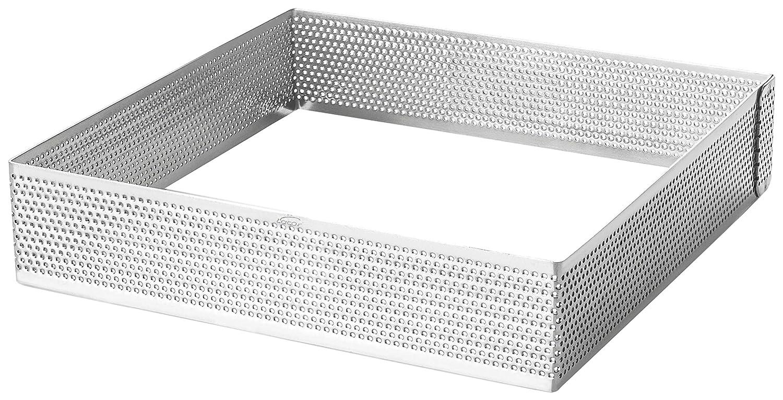 Lacor 68560 Cercle Carre perfor/é 20x20 h 2 cm Acier Inoxydable 20 cm Gris