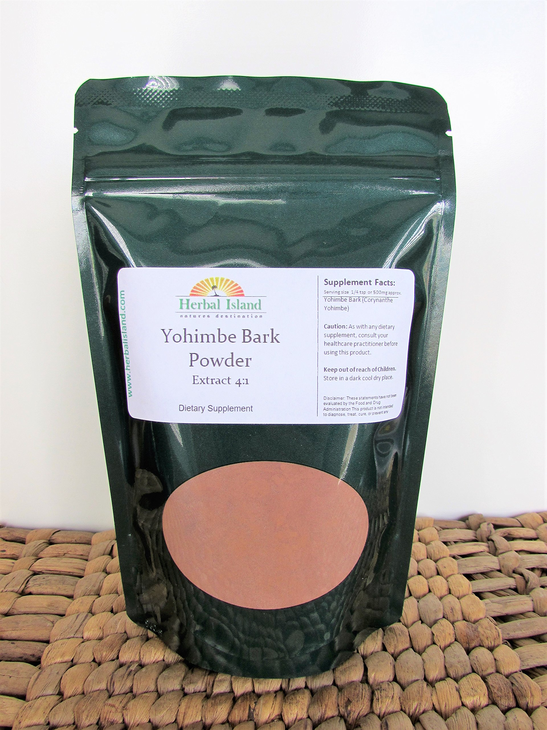 Yohimbe Bark Extract 4:1 Powder 1 LB or 16 OZ (Corynanthe Yohimbe) with Free Shipping