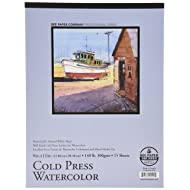 Bee Paper Cold Press 140 Pound Watercolor Paper Pad, 9-Inch by 12-Inch (1136T15-912)