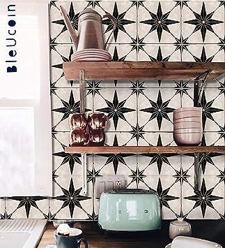 Amazon.com: Bleucoin - Adhesivo de vinilo para azulejos ...