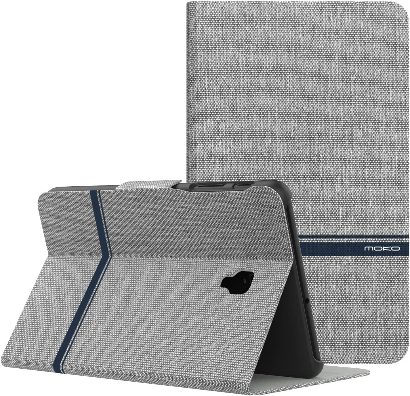 MoKo Samsung Galaxy Tab A 8.0 2017 Case - Lightweight Stand Scratch Proof Folio Cover Case Protector Holder for Galaxy Tab A 8.0 (SM-T380/T385) 2017 Release(NOT FIT 2015 Tab A 8.0), Light Gray