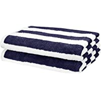 AmazonBasics Cabana Stripe Beach Towel