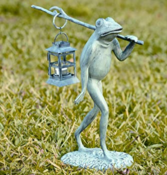 metal frog carrying lantern