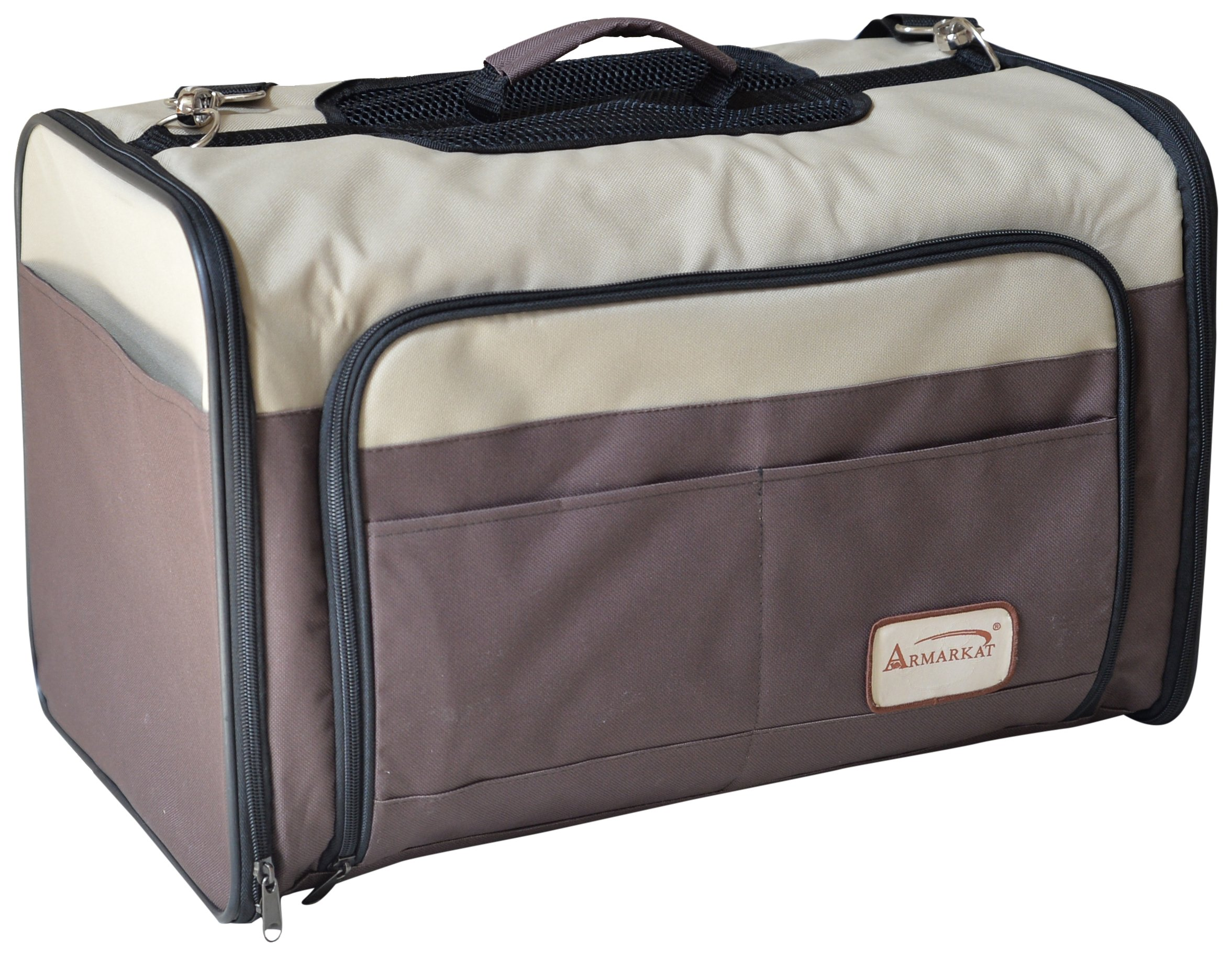 Armarkat PC102R Beige & Chocolate Pet Carrier