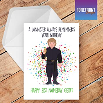 Personalised Funny Game Of Thrones Tyrion Lannister Happy Birthday