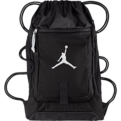 huge selection of c998a 2d4a8 Air Jordan Drawstring Gymsack Backpack Black White 612838-010 (Size os)