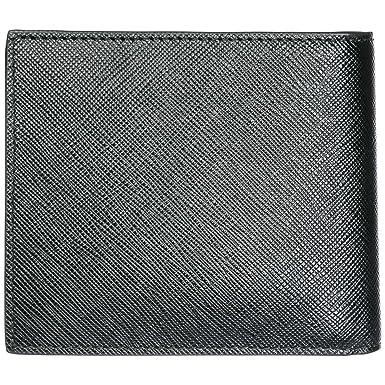 Prada cartera billetera bifold de hombre en piel nuevo negro: Amazon.es: Ropa y accesorios