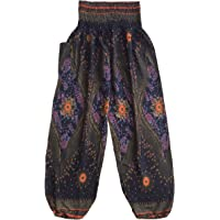 Love Quality Ladies Baggy Peacock Harem Pants One Size Hippie Maternity Pants