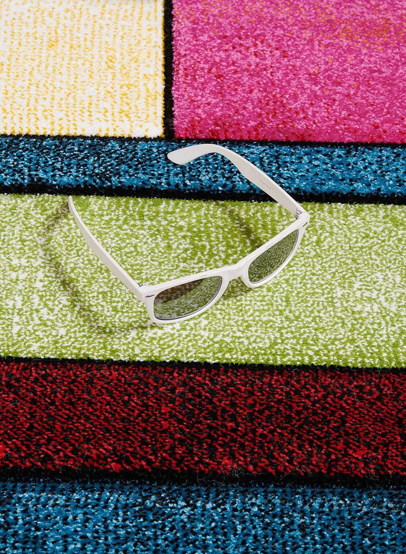 Brillance GEO UN AMOUR DE TAPIS 40x60 cm Tapis Moderne Design Petit Tapis Entr/ée Tapis Salon /à Carreaux Beige Couleurs et Tailles Disponibles