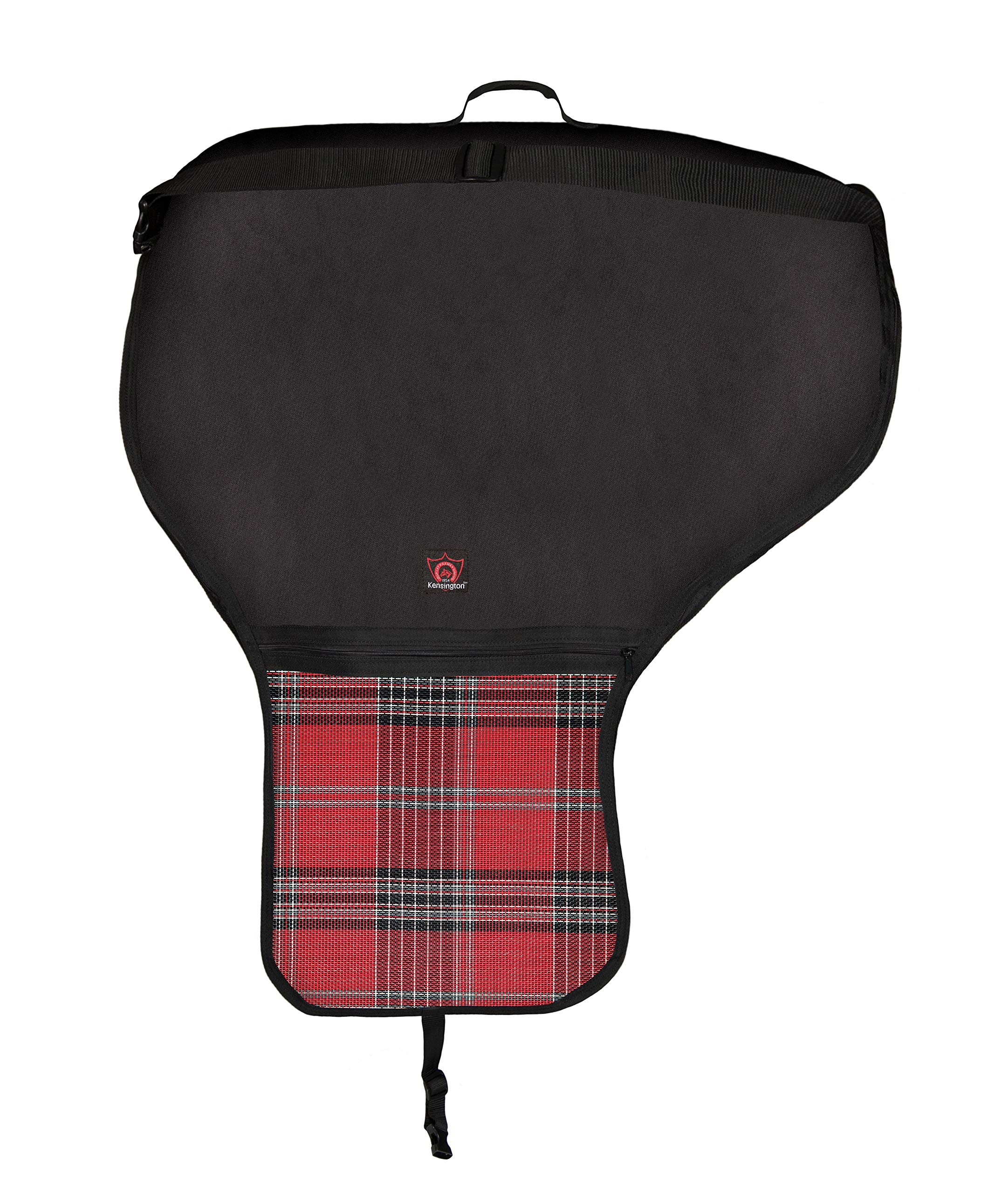 Kensington KPP All Around Western Saddle Cover, Deluxe Red Plaid, One Size