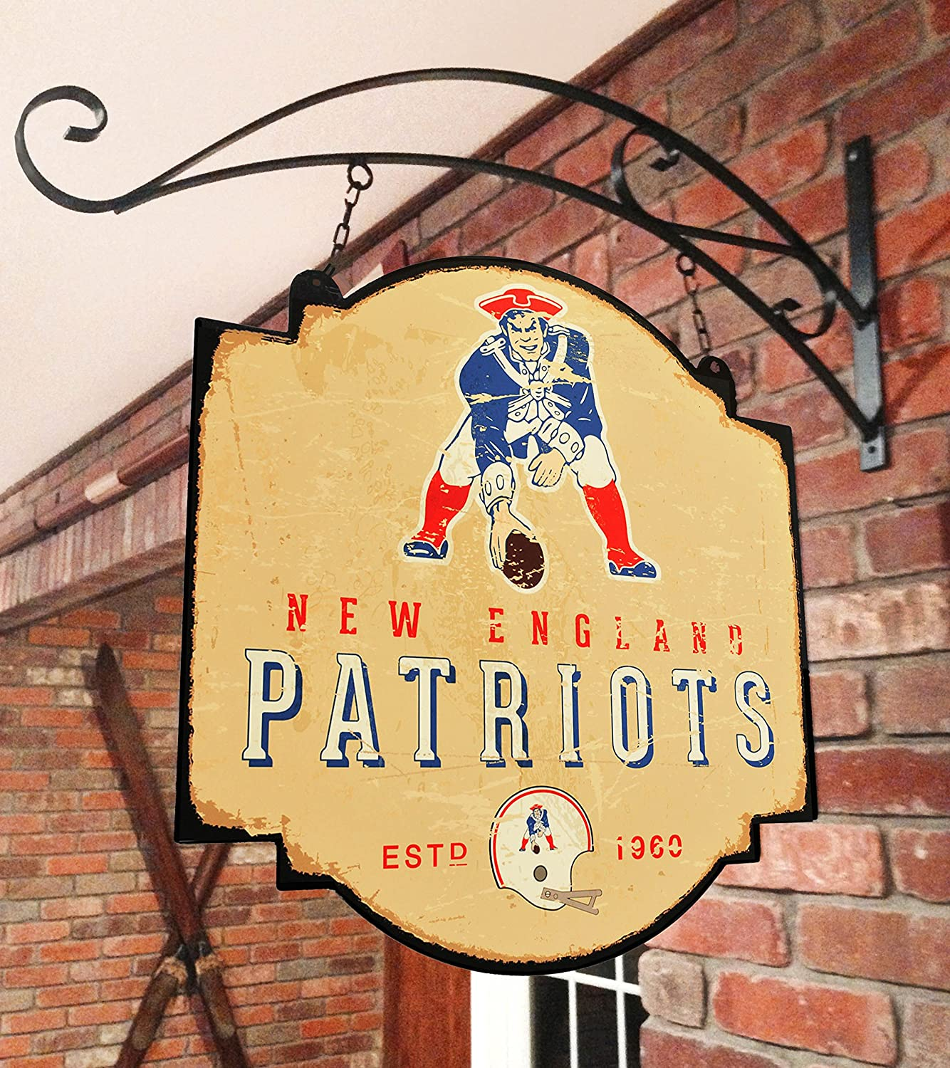 Amazon.com: NFL New England Patriots taberna Sign, Las ...
