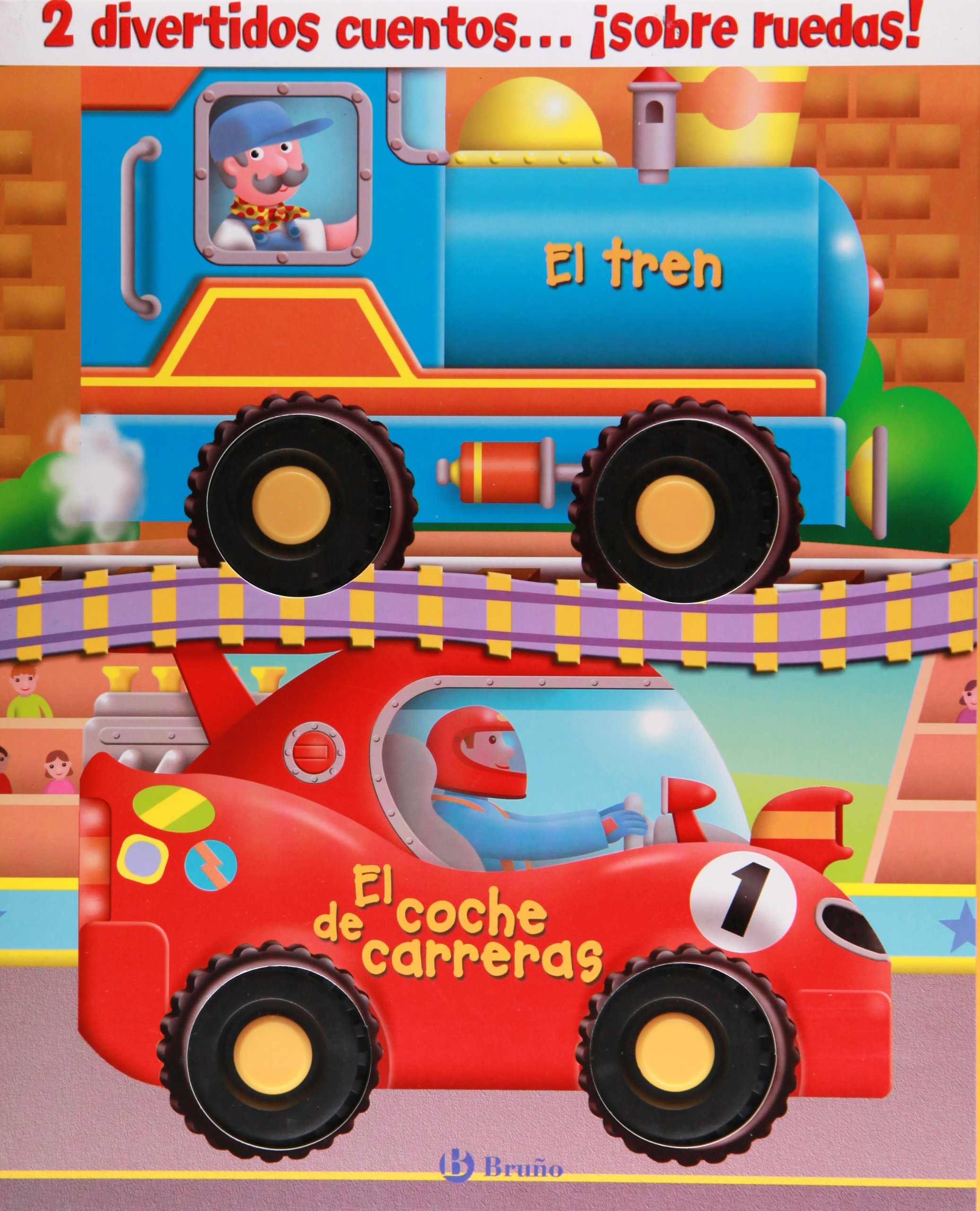 Cuentos con ruedas (El tren + El coche de carreras) (Cuentos con ruedas / Wheelie Books) (Spanish Edition) (Spanish) Hardcover – March 21, 2010