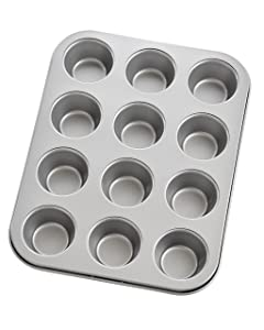 Mrs. Anderson's Baking 43702 12-Cup Mini Muffin Pan, Carbon Steel with Quick-Release Non-Stick Coating