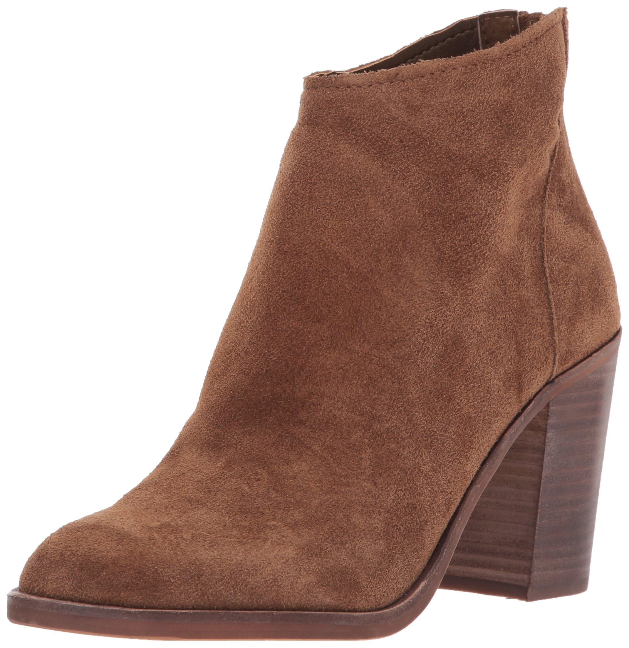 Dolce Vita Women's Stevie Ankle Boot, DK Brown Suede, 7 Medium US