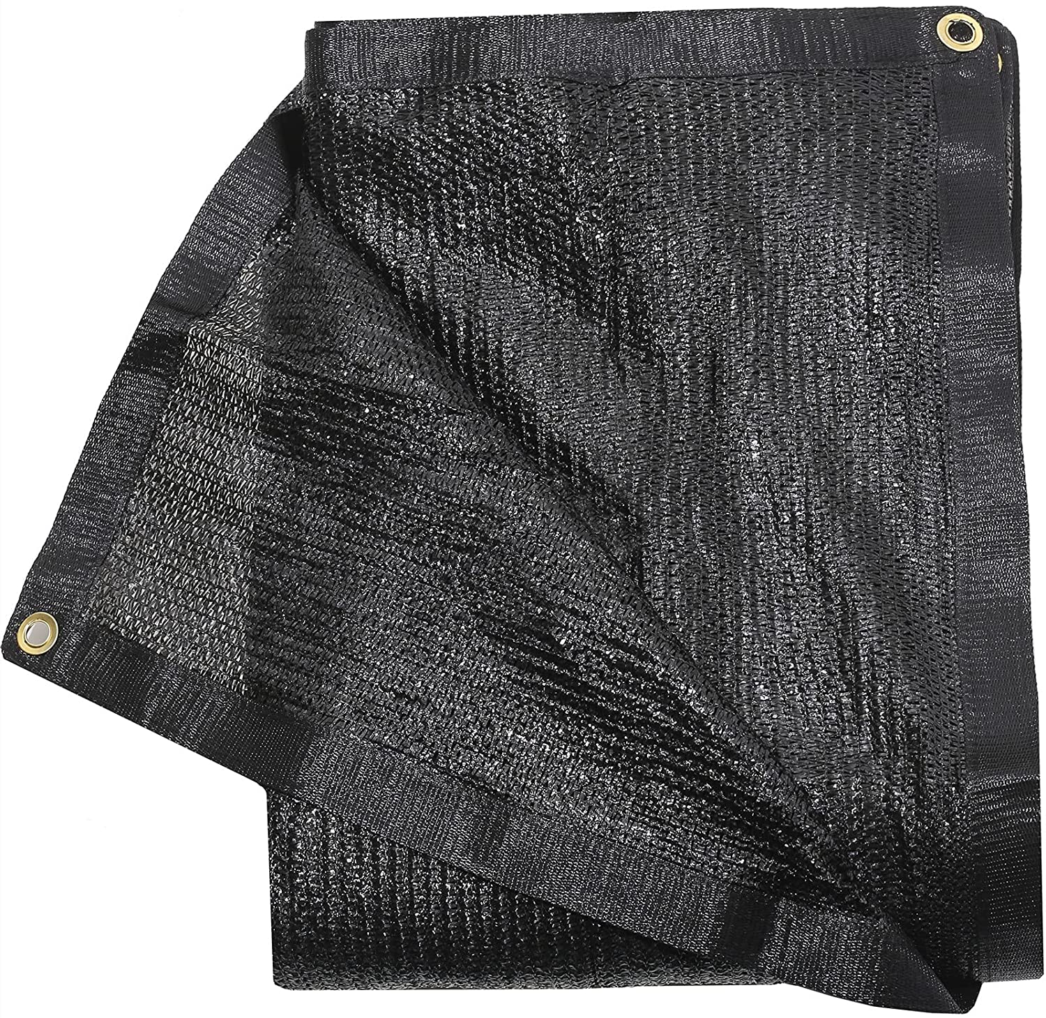 50% Black Shade Cloth Taped Edge with Grommets 8 ft X 12 ft Shade Fabric Sun Net Mesh for Pergola Patio Backyard Garden Shade Panel