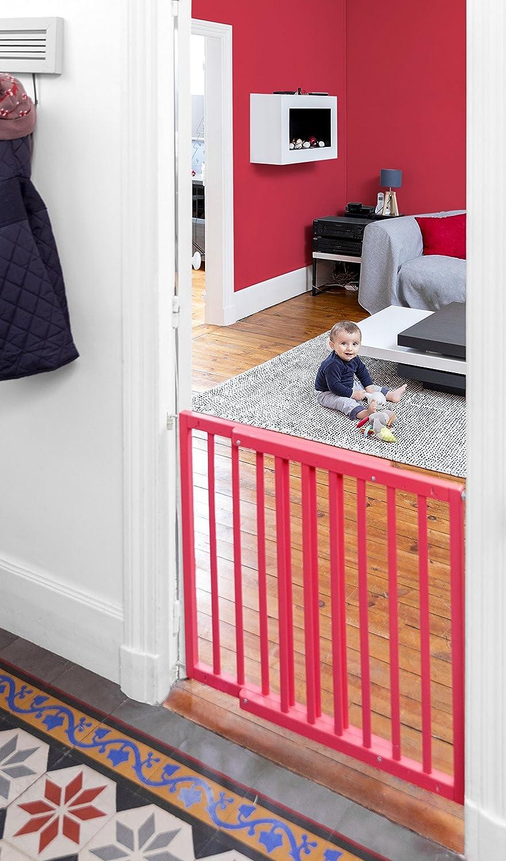 Badabulle Color Pop Treppen-//T/ürschutzgitter flexibel erweiterbar von 63,5-103,5 cm blau zum Selbstaufbauen in nur 7 min