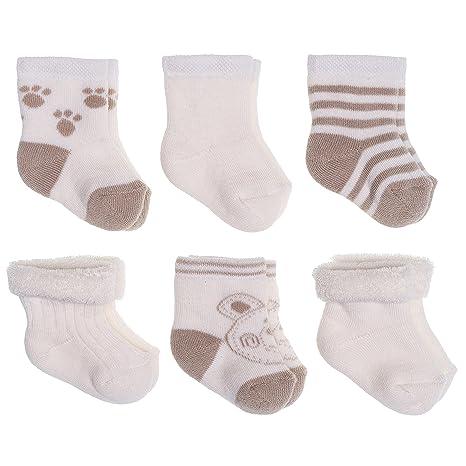 Jacobs Calcetines de recién nacido / Patucos bebé de algodón rizado con motivos ositos - Lote
