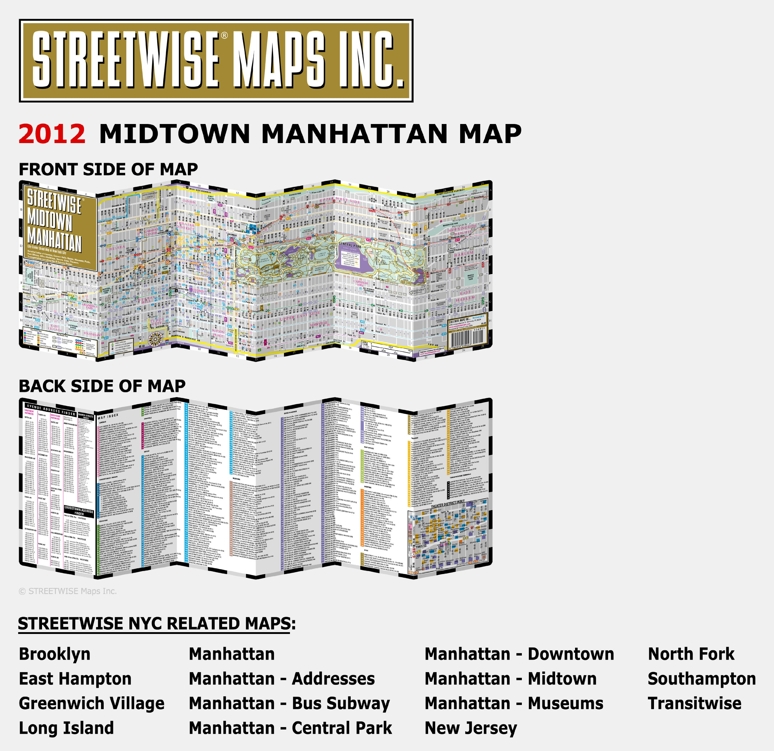 Streetwise Midtown Manhattan Map Laminated City Street Map Of - Nyc map oasis