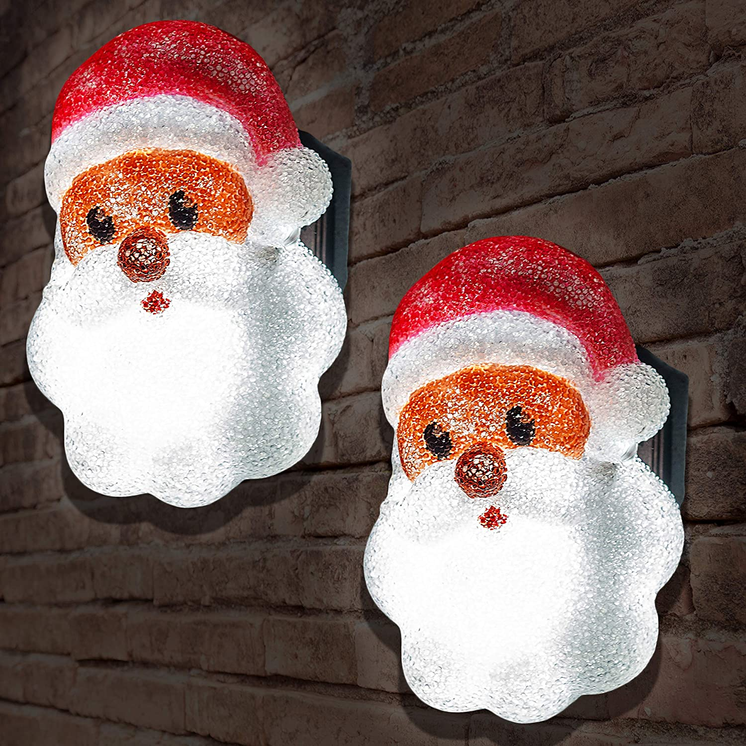 JOYIN 2 Pcs Christmas Santa Porch Light Covers for Outdoor Light Cover, Christmas Decorations, Christmas Parties, Gift Giving, and More!