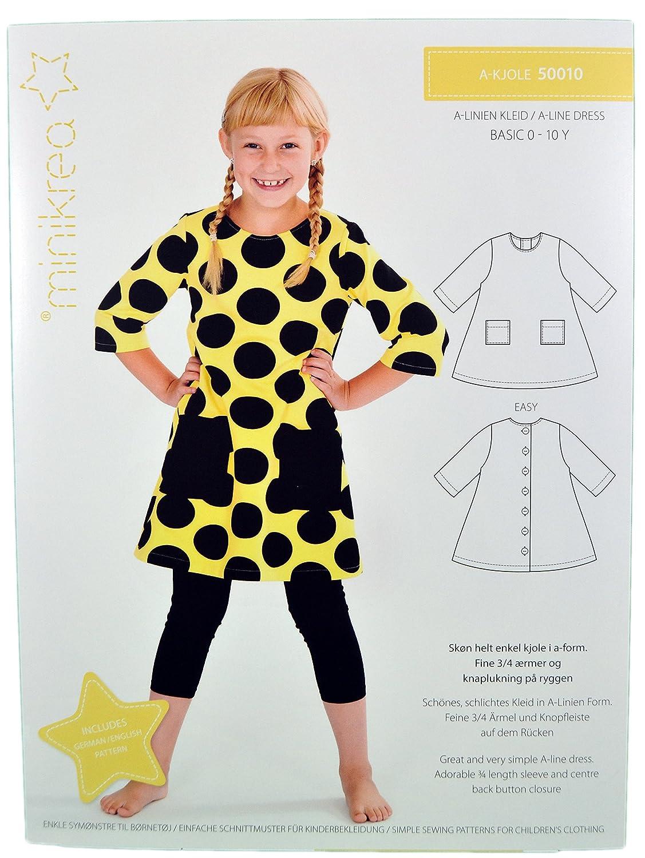 Schnittmuster Kleid für Kinder / Gr. 56-146cm / 5x0010: Amazon.de ...
