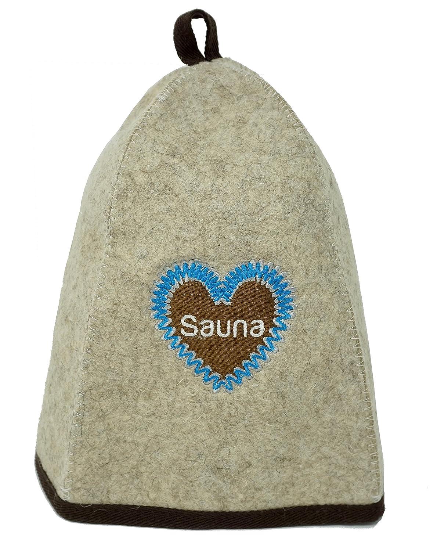 CRS Heart Cap High Quality 100% Felt Sauna Hat For Men And Women. Perfect Sauna Accessory. CRS Empire