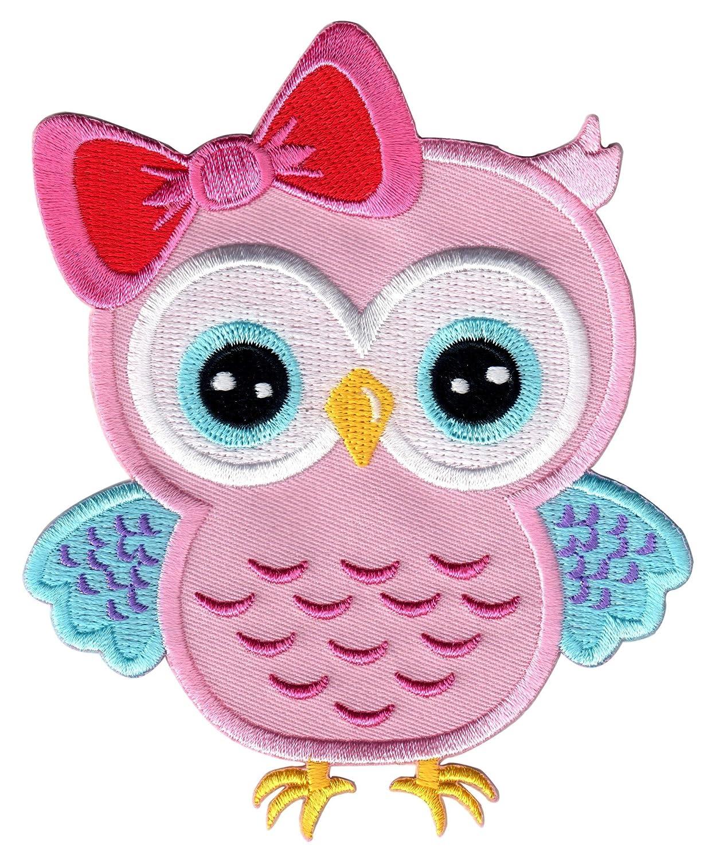 PatchMommy Toppa Gufo Rosa e Blu Toppa Patch Termoadesiva -Toppe Bambini 4337018712