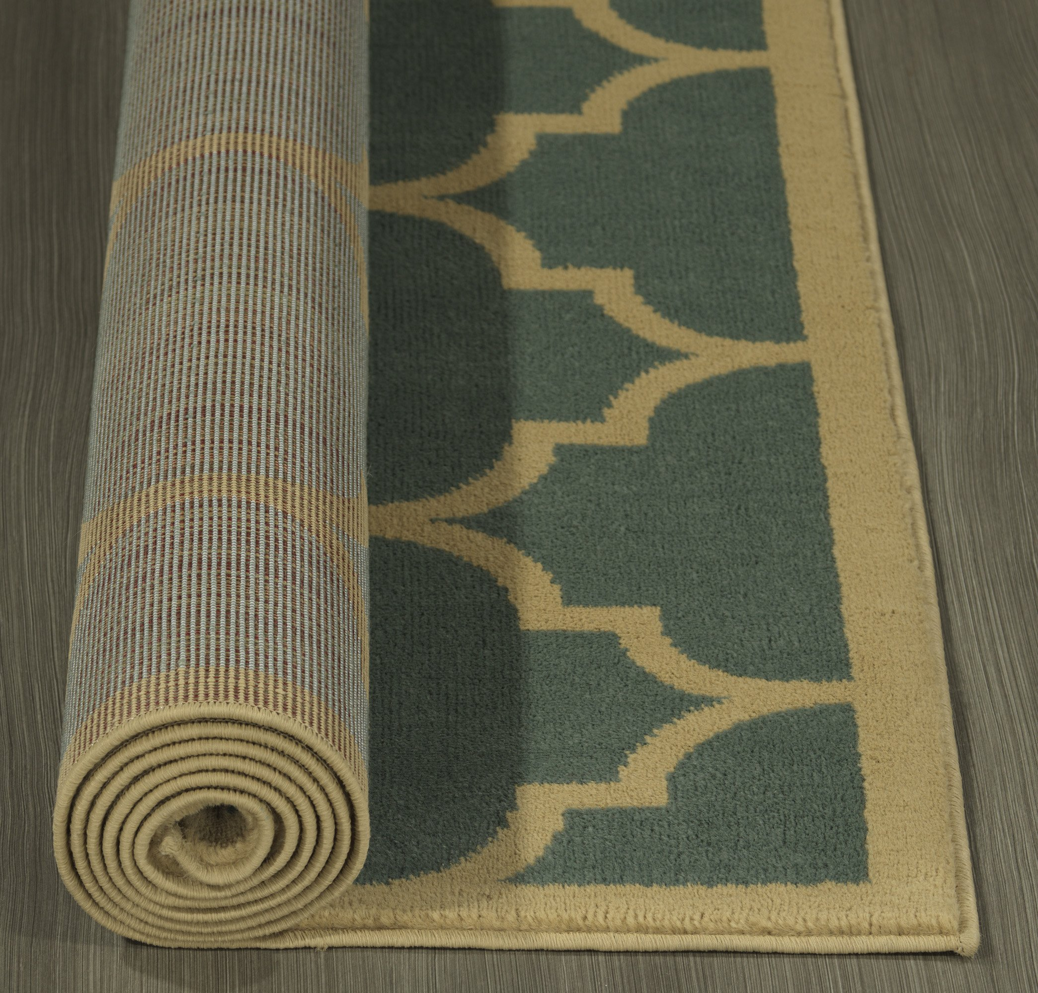 Sweet Home Stores Clifton Collection Moroccan Trellis Design Area Rug, 7'10'' X 9'10'', Seafoam by Sweet Home Stores (Image #5)