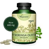 Moringa Oleifera BIO Vegavero®   600 mg   270 Gélules   Plante Ayurvédique et Adaptogène   Superaliment BIO : Source Naturelle de Protéines, Vitamines et Minéraux   Sans Additifs   Vegan