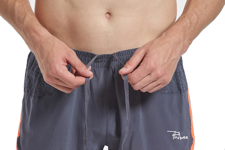 Phibee Herren 2-in-1 Laufhose Elastizit/ät Leichte Hosen