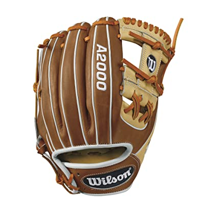 "Wilson WTA20RB171786 A2000 1786 Infield Baseball Glove, Blonde/Tan/White, 11.5"", Left Hand"