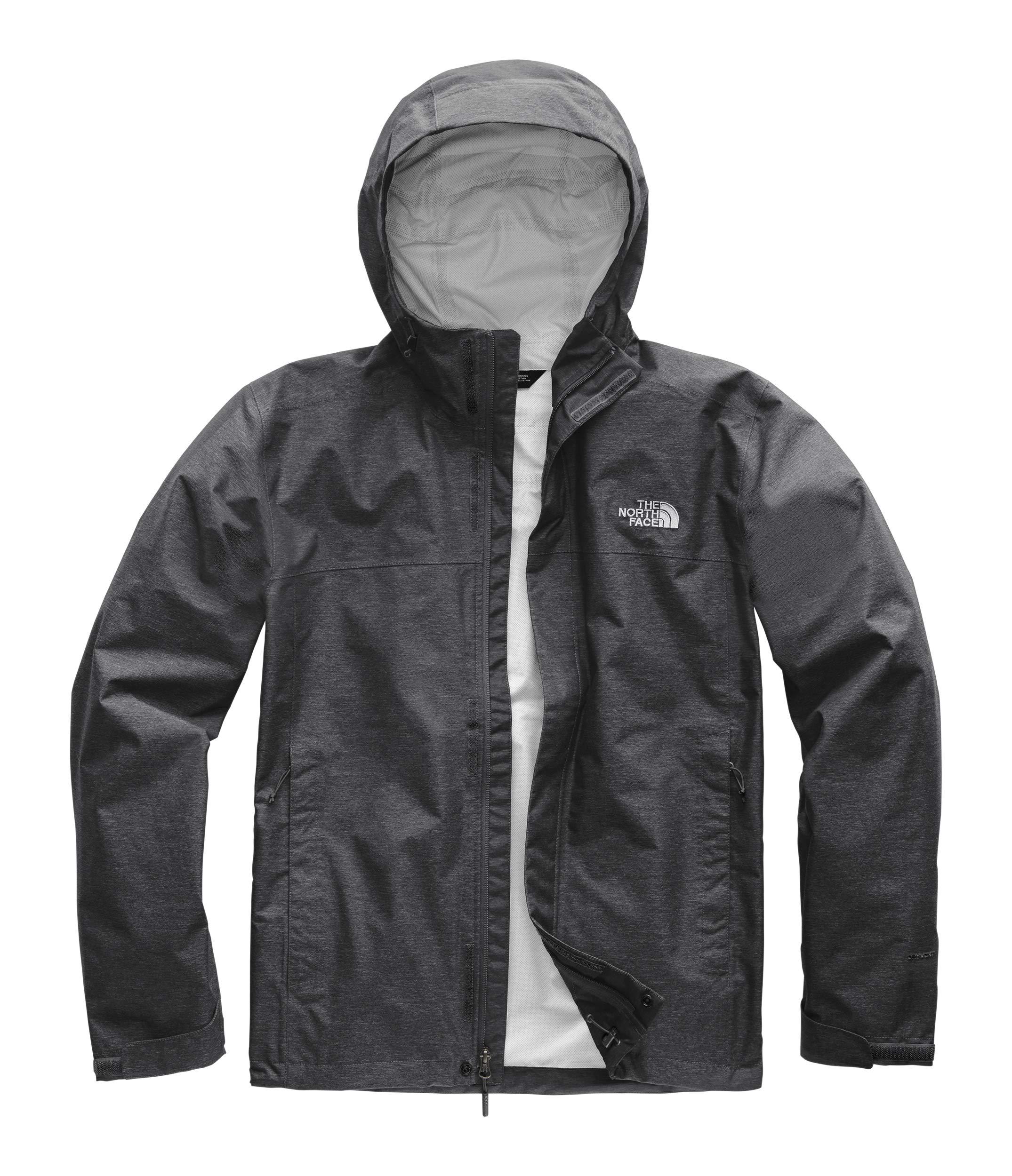 The North Face Men's Venture 2 Jacket, TNF Dark Grey Heather/TNF Dark Grey Heather/Mid Grey, Large