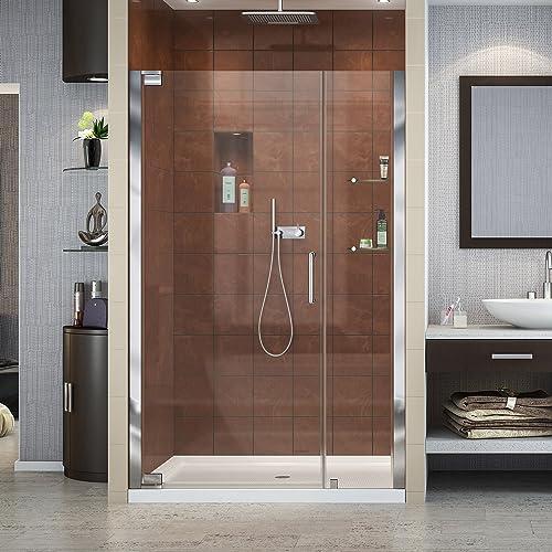 DreamLine Elegance 40 3 4 – 42 3 4 in. W x 72 in. H Frameless Pivot Shower Door in Chrome, SHDR-4140720-01