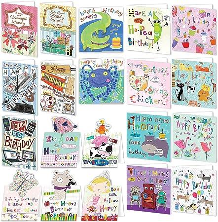 Bumper PACK de tarjetas de cumpleaños para todo el mundo: Amazon.es: Oficina y papelería