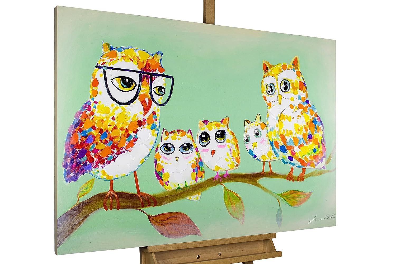 Amazon.de: KunstLoft® Acryl Gemälde \'Meeting der Waldeulen ...