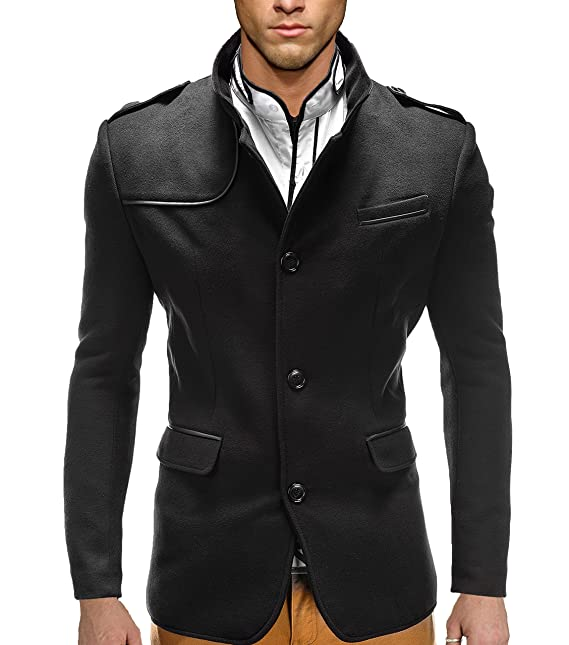 betters tylz Remon abrigo de invierno para hombre Tiempo libre Business abrigo chaqueta 2 colores Tallas (M - XXL) negro small: Amazon.es: Ropa y accesorios