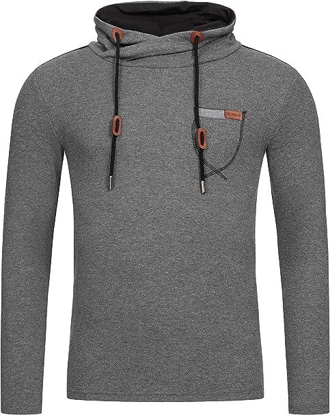 Redbridge Herren Pullover Sweatshirt Sweater Stehkragen Schalkragen hoher Kragen