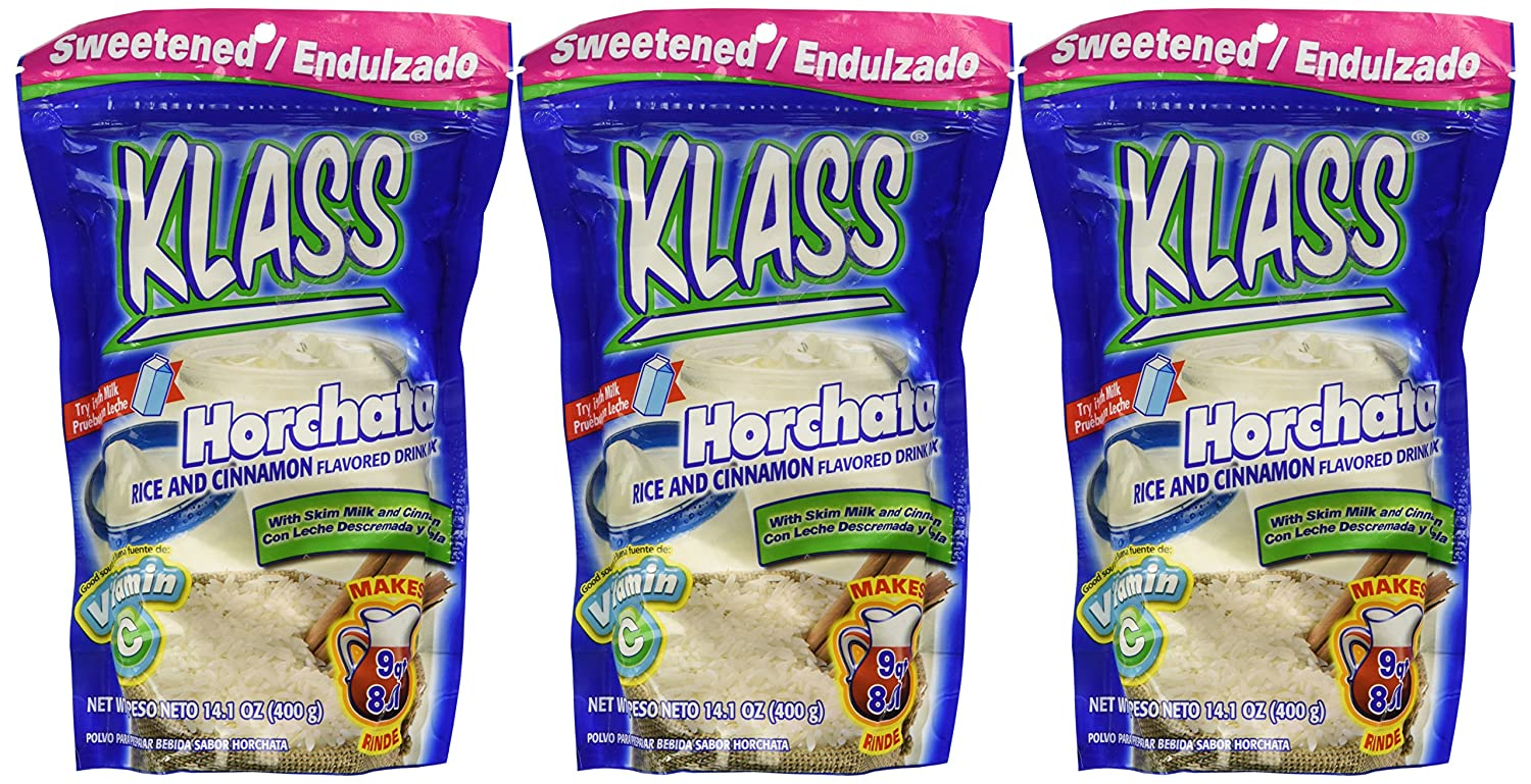 Amazon.com : Klass Mezcla de Bebida Endulzada Sabor Horchata (Pack of 3) : Grocery & Gourmet Food