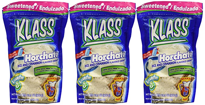 Klass Horchata, Rice and Cinnamon Drink Mix, 14.1 Oz, (Pack of 3