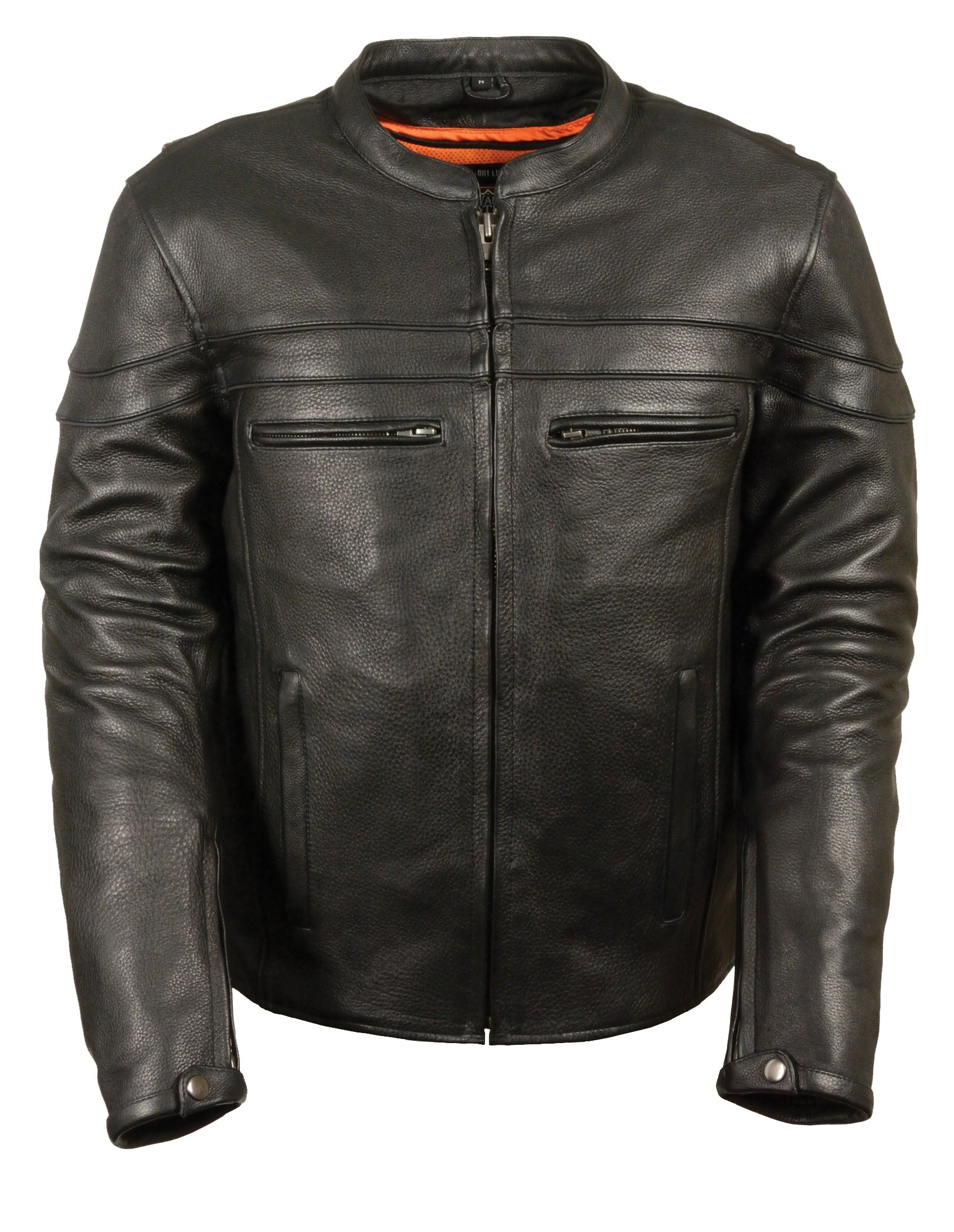 Milwaukee Leather Men's Sporty Scooter Crossover Leather Jacket (Black, XXX-Large)