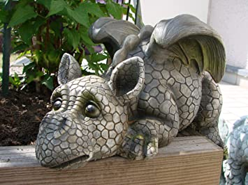 Decorative Garden Dragon Ledge Sitter Amazoncouk Garden Outdoors