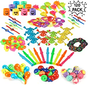 THE TWIDDLERS 120 Bulk Assorted Party Toy Supply | Birthday Party Favors Toys | Goody Bag Fillers | Carnival Loot Bags | Treasure Box Toys | Pinata Stuffing | Indoor Activity Hours Play Entertainment