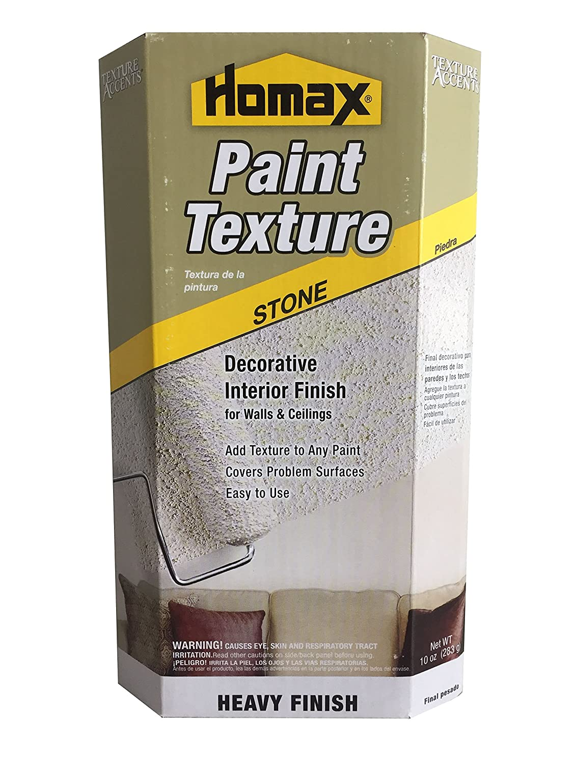 Homax 8452 10 Ounce Stone Roll On Texture Wall Surface Repair