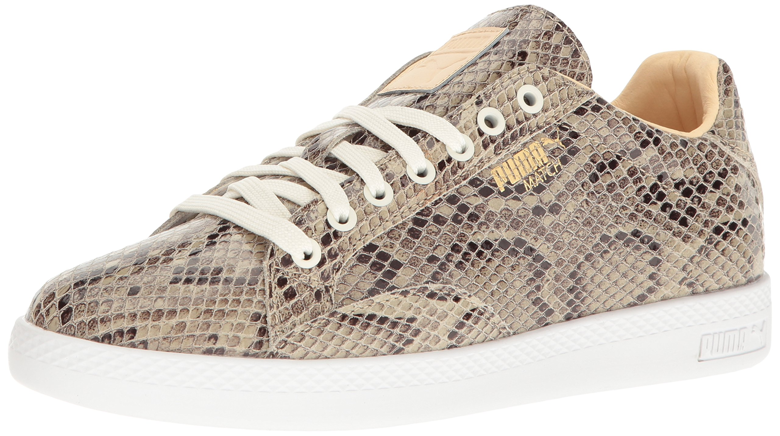 PUMA Women's Match Animal Wn's Shoe, Star White-Natural V, 9.5 M US