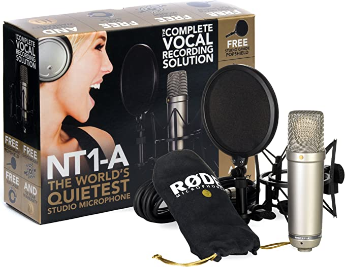 Rode NT1-A Anniversary Vocal Cardioid Condenser Microphone Package: Amazon.co.uk: Musical Instruments