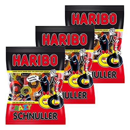 Haribo Crazy Schnuller, 2 chupetes, liquirizie, Gominolas ...