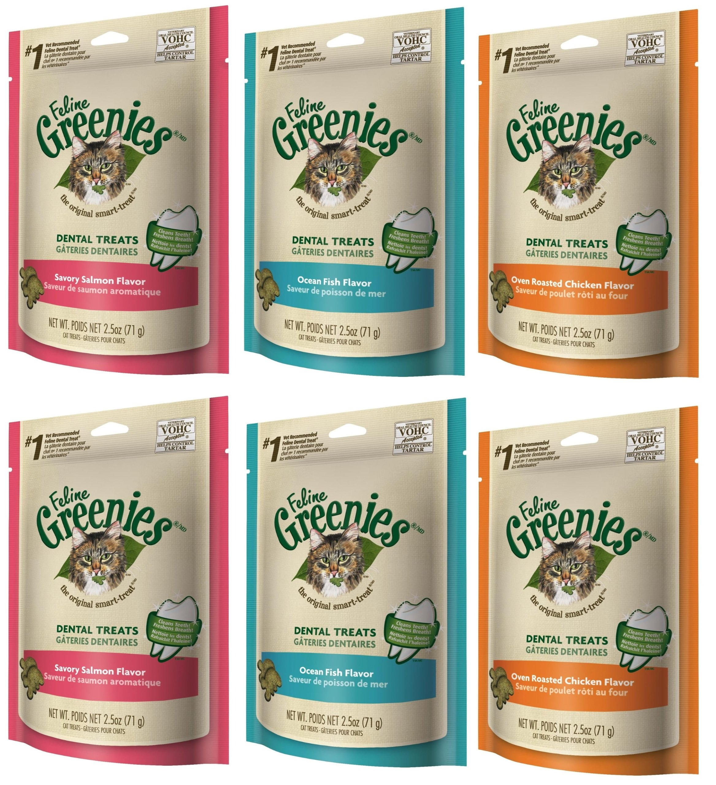 Feline GREENIES Variety Pack 6 Pack